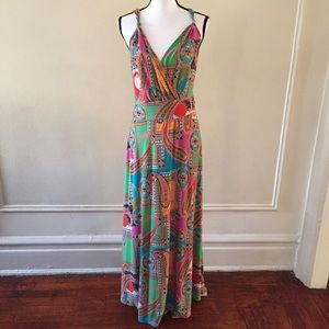 New Directions Floral Fit &Flare Maxi Dress Sz XL